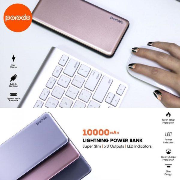 porodo lightning powerbank 10000mah DESCRIP