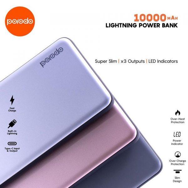 porodo lightning powerbank 10000mah DESCRIP 2