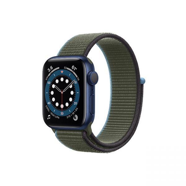 Apple-Watch-Series-6-42MM-Blue-Aluminum-GPS---Sport-Loop-Inverness-Green