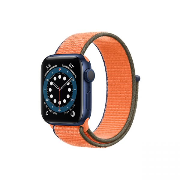 Apple-Watch-Series-6-42MM-Blue-Aluminum-GPS---Sport-Loop-Kumquat