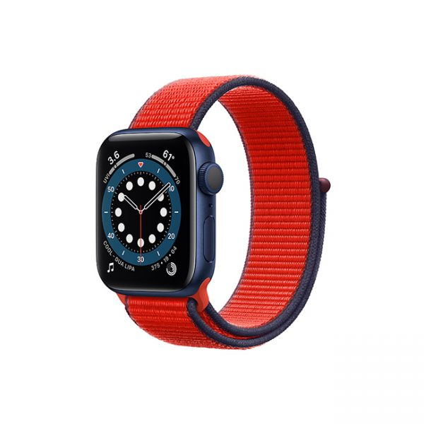 Apple-Watch-Series-6-42MM-Blue-Aluminum-GPS---Sport-Loop-Plum-Red