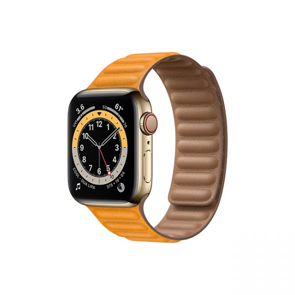 Apple-Watch-Series-6-42MM-Gold-Stainless-Steel-GPS-+-Cellular---Leather-Link-California-Poppy