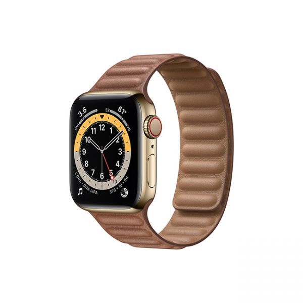 Apple-Watch-Series-6-42MM-Gold-Stainless-Steel-GPS-+-Cellular---Leather-Link-Saddle-Brown