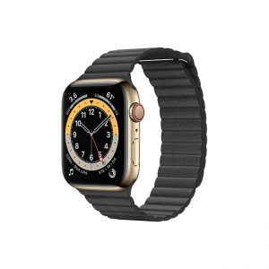 Apple-Watch-Series-6-42MM-Gold-Stainless-Steel-GPS-+-Cellular---Leather-Loop-black