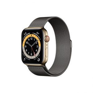 Apple-Watch-Series-6-42MM-Gold-Stainless-Steel-GPS-+-Cellular---Milanese-Loop-Graphite