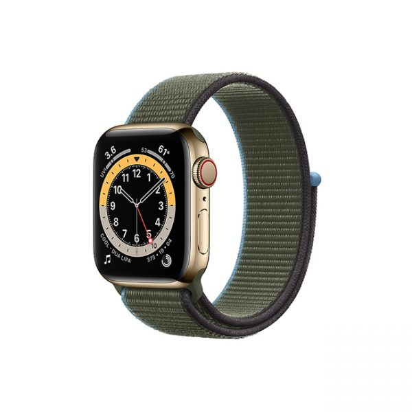 Apple-Watch-Series-6-42MM-Gold-Stainless-Steel-GPS-+-Cellular---Sport-Loop-inverness-green