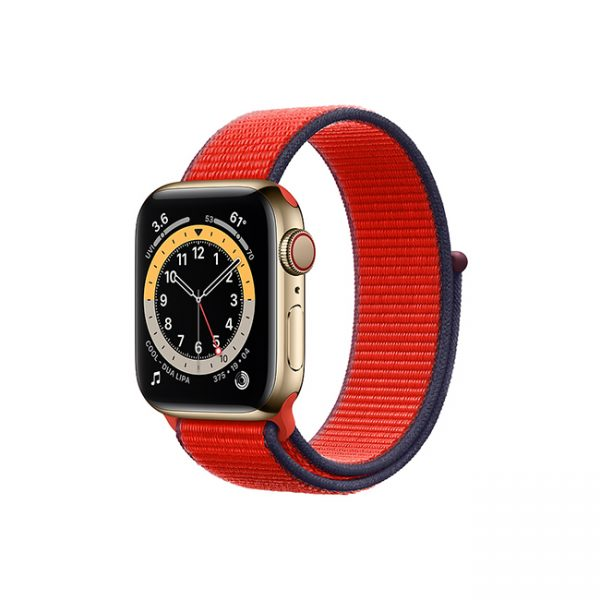 Apple-Watch-Series-6-42MM-Gold-Stainless-Steel-GPS-+-Cellular---Sport-Loop-red