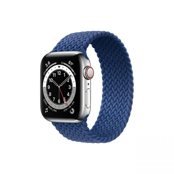 Apple-Watch-Series-6-42MM-Silver-Stainless-Steel-GPS-+-Cellular---Braided-Solo-Loop-Atlantic-Blue