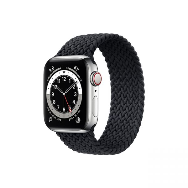 Apple-Watch-Series-6-42MM-Silver-Stainless-Steel-GPS-+-Cellular---Braided-Solo-Loop-Charcoal