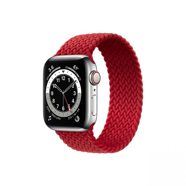 Apple-Watch-Series-6-42MM-Silver-Stainless-Steel-GPS-+-Cellular---Braided-Solo-Loop-Red