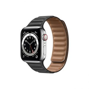 Apple-Watch-Series-6-42MM-Silver-Stainless-Steel-GPS-+-Cellular---Leather-Link-black