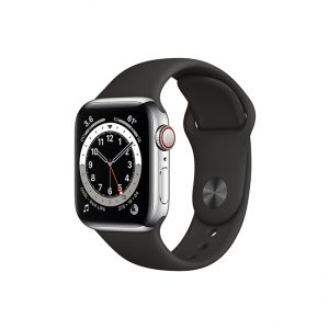 Apple-Watch-Series-6-42MM-Silver-Stainless-Steel-GPS-+-Cellular---Sport-Band-black