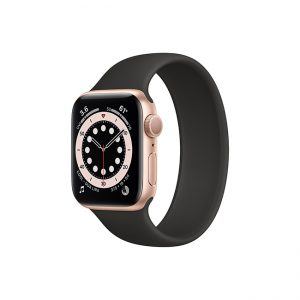 Apple-Watch-Series-6-42mm-Gold-Aluminum-GPS---Solo-Loop-Black