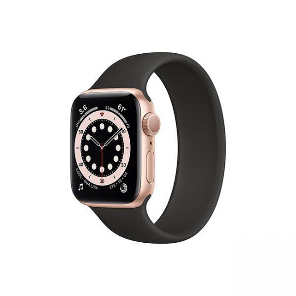 Apple-Watch-Series-6-42mm-Gold-Aluminum-GPS---Solo-Loop-Black