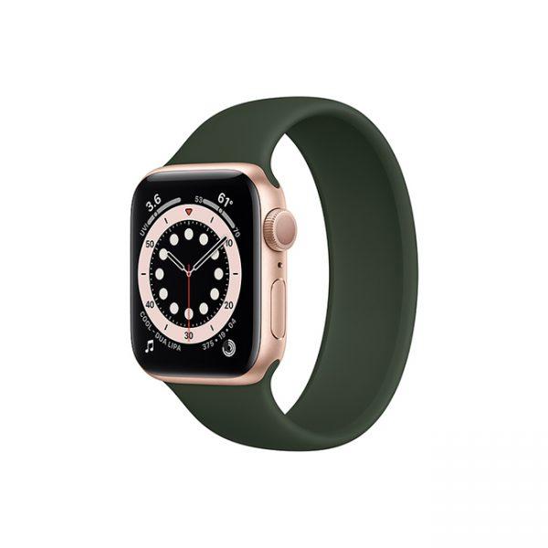 Apple-Watch-Series-6-42mm-Gold-Aluminum-GPS---Solo-Loop-Cyprus-Green