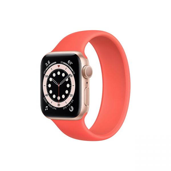 Apple Watch Series 6 42mm Gold Aluminum GPS - Solo Loop Pink Citrus