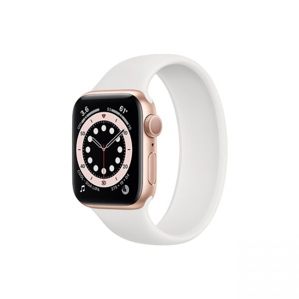 Apple-Watch-Series-6-42mm-Gold-Aluminum-GPS---Solo-Loop-White