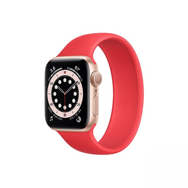 Apple-Watch-Series-6-42mm-Gold-Aluminum-GPS---Solo-Loop-red