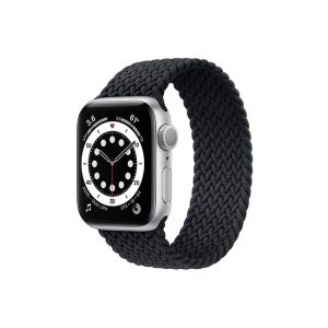 Apple-Watch-Series-6-42mm-Silver-Aluminum-GPS---Braided-Solo-Loop-Charcoal