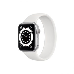 Apple-Watch-Series-6-42mm-Silver-Aluminum-GPS---White-Solo-Loop