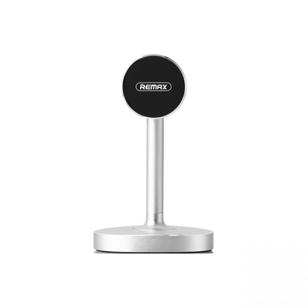 Remax-RM-C33-Desktop-Stand-Magnetic-Holder-Silver-front