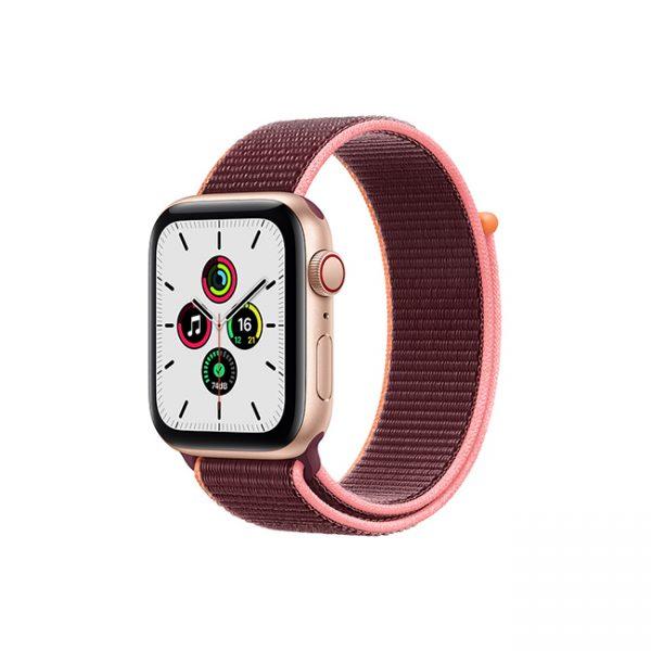 Apple-Watch-SE-44MM-Gold-Aluminum-GPS-+-Cellular---Plum-Sport-Loop