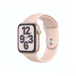 Apple-Watch-SE-44MM-Gold-Aluminum-GPS---Pink-Sand-Sport-Band