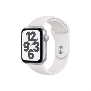 Apple-Watch-SE-44MM-Silver-Aluminum-GPS---White-Sport-Band
