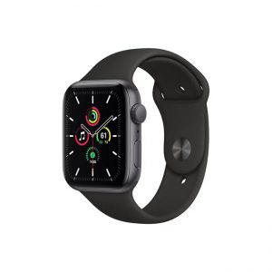 Apple-Watch-SE-44MM-Space-Gray-Aluminum-GPS---Black-Sport-Band