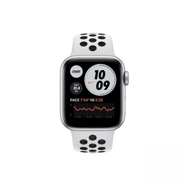 Apple-Watch-Series-6-Nike-44MM-Silver-Aluminum-GPS--Pure-Platinum---Black-Nike-Sport-Band-1