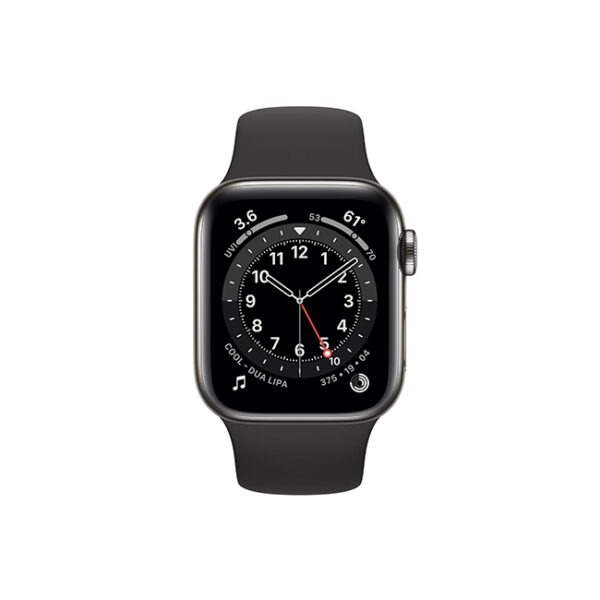 Apple-Watch-Series-6-44MM-Graphite-Stainless-Steel-GPS-+-Cellular---Black-Sport-Band-1