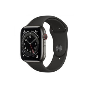 Apple-Watch-Series-6-44MM-Graphite-Stainless-Steel-GPS-+-Cellular---Black-Sport-Band